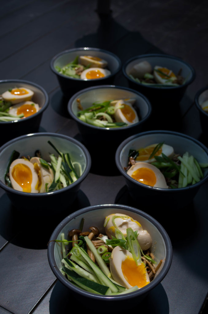 Miso Soba noodles with eggs