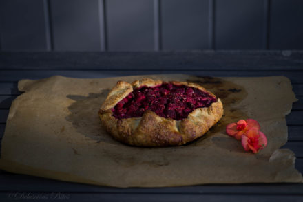 Fresh Raspberry Lavender Goat Cheese Galette-Crostata 10