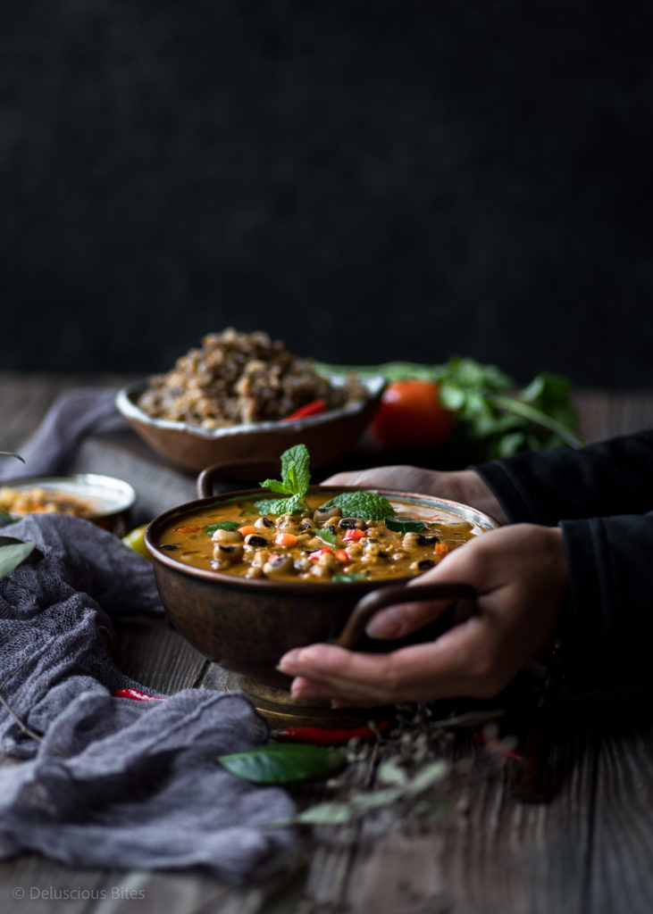 New Year Comfort Meal - Black Eye Peas Curry_